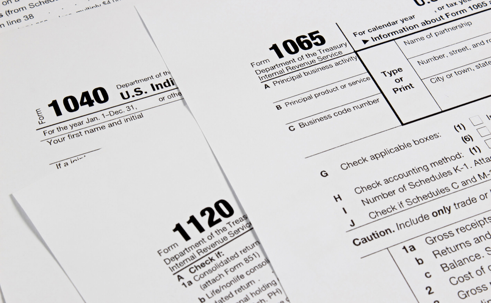 Tax forms 1065 & 1120